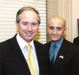 Steven Schwarzman of the Blackstone Group and Richard Grasso, Chairman, NYSE